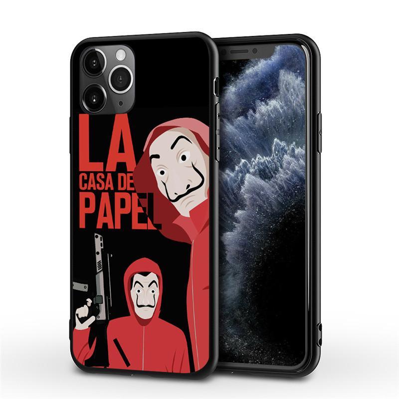 La Casa De Papel Durumda iPhone SE20 11 Pro Max XR X XS Max 7 8 Artı Yumuşak TPU Silikon Darbeye Telefon Arka Kapak