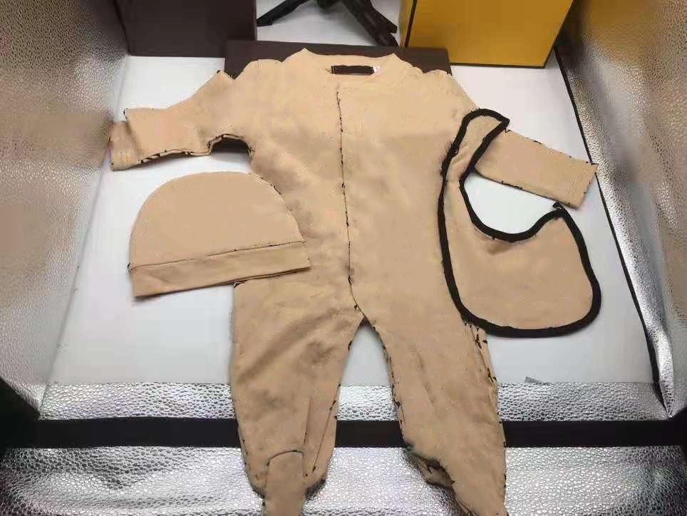 Brand Baby Boys Girls Rompere Designer Bambini a maniche lunghe in cotone tute in cotone infantile Cavallo in cotone Rompere Boy Abbigliamento Trasporto libero
