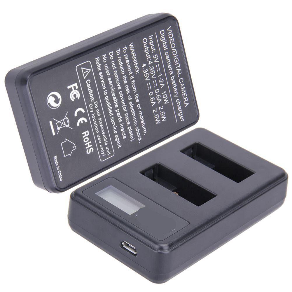 Freeshipping 1pcs / 2pcs / 4pcs AHDBT-501 Batteria agli ioni di Li-ioni 1220mAh + 1pcs Dual USB caricabatterie USB LCD Caricabatterie intelligente per GOPRO Hero 5