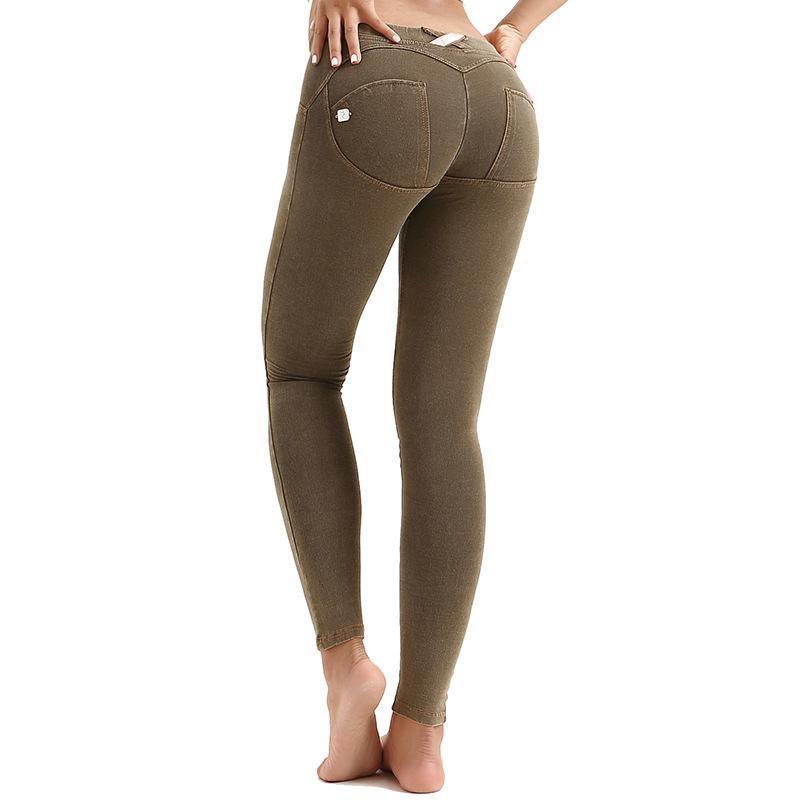 Jeans mulheres pêssego hip sexy leggings alta elasticidade baixa cintura apertada moda casual lápis calças