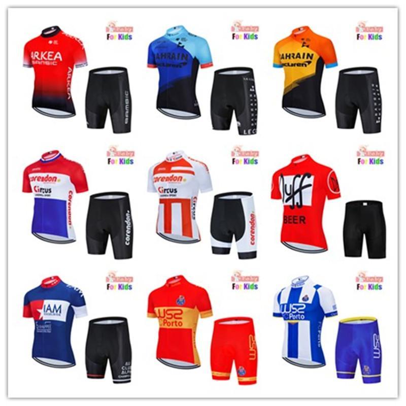 Bisiklet Jersey Çocuk 2020 Pro Ekibi Erkek MTB Motocross Triatlon Bisiklet Jersey Suits Çocuklar Bisiklet Giyim Bisiklet Bisiklet Kiti C0123