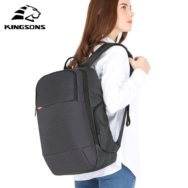 Zaino da donna Kingsons per laptop con USB Ricarica Anti-Theft Faashion Bag da 15 pollici per affari