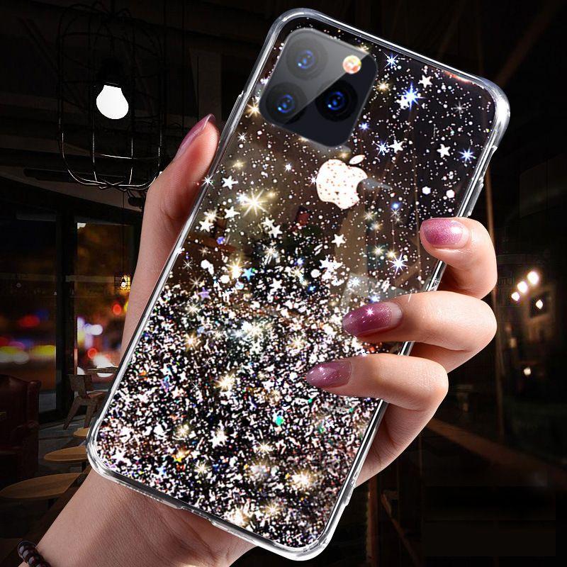 Ins heißer Verkauf Luxus Bling Dynamische Flüssigkeit Quicksand Telefon Fall für iPhone 12 11 Pro Max XR Liebe Herz Glitter Soft Cases Funda Großhandel DHL