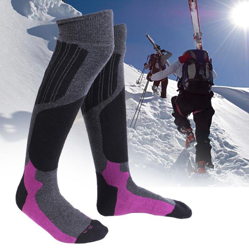 Унисекс мужчины женские зимние теплые носки походные лыжные носки на открытом воздухе спортивные чулки с компрессионным компрессионным номнокнет