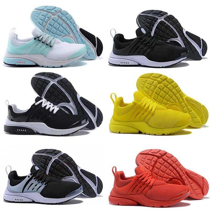 러닝 신발 남성 여자 트레이너 Presto 2020 새로운 레이서 브랜드 트리플 블랙 오레 보라색 라이트 블루 옐로우
