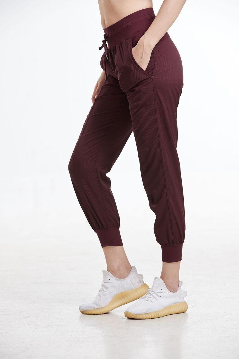 Kadın Yoga Stüdyo Pantolon Bayanlar Hızlı Kuru İpli Koşu Spor Pantolon Gevşek Dans Stüdyosu Jogger Kız Yoga Pantolon Spor Salonu Fitness KG-98