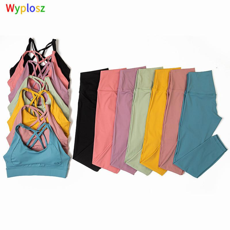 Wyplosz Йога брюки узкие йоги набор тренировки спортивная одежда тренажерный зал одежда высокая талия фитнес леггинс красоты спина спортивные брус спортивные костюмы C0123
