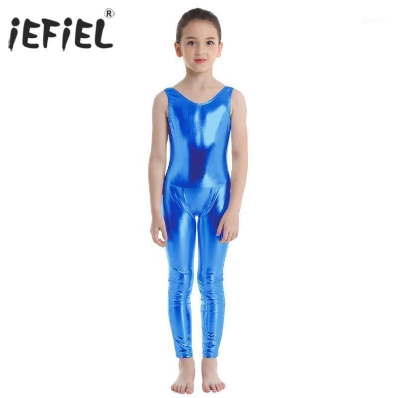 Amerikan Bale Lirik Dans Kostümleri Çocuklar Kızlar için Parlak Bale Dans Balerin Gymnastics Leotard Tulum Unitard Dancewear1