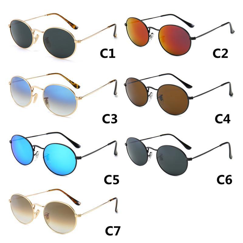 Popular 7 cores óculos de sol óculos homens cores e sol marca de metal designer de luxo deslumbrar ao ar livre para esporte mulheres tonalidades óculos vjqgo