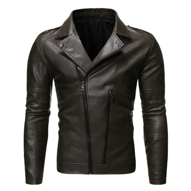Vintage Leather Jackets Men Coat Autumn Winter Casual Zipper Long Sleeve Solid Thicken Hooded Leather Coats Jacket Man Overcoat