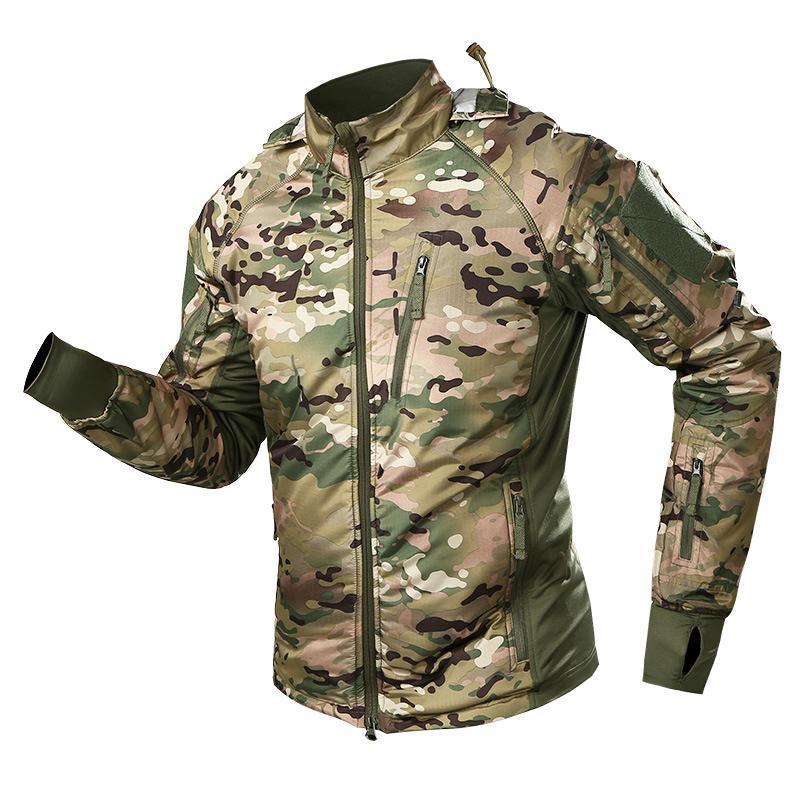 Открытый куртки армии Тактическая мягкая смешанная куртка камуфляжная ветровка с капюшоном флисовая пальто мужчины охотничьи одежда водонепроницаемые толстовки