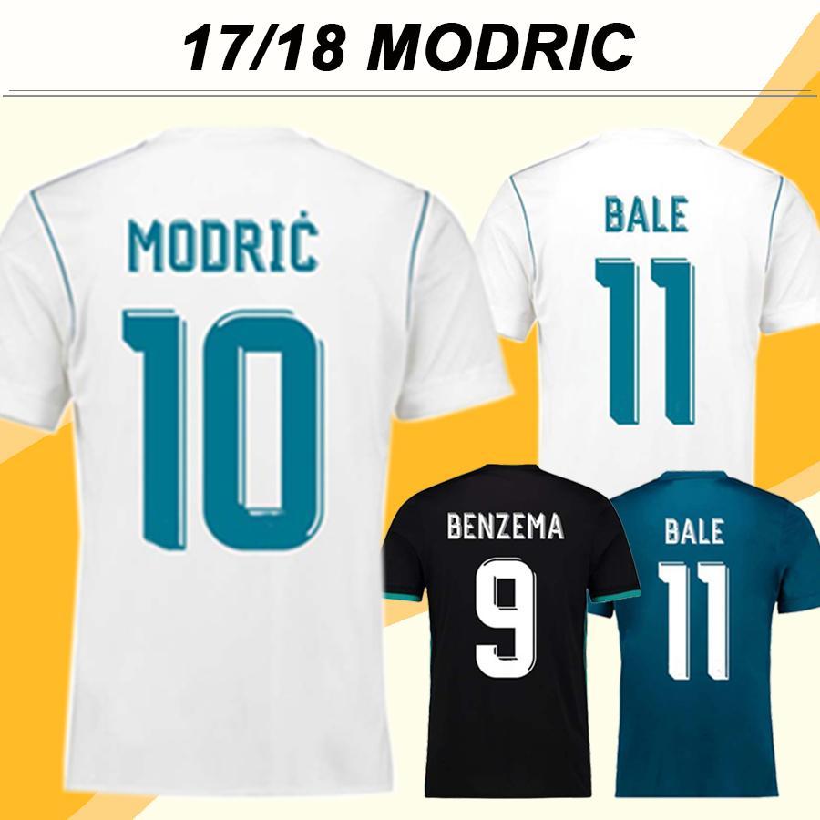 2017 2018 VARANE MODRIC Soccer Jersey MARCELO ISCO Home Men Fans Version Soccer Shirts Cheap BALE KROOS Short Sleeves Football Jerseys