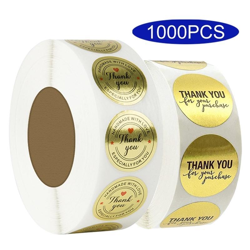 1000pcs Japon Japon Merci Sticker Sticker Label Heart Heart Heart Heart Papeterie Kawaii Mariage Chemin de Noël Scrapbooking Matériel 201006
