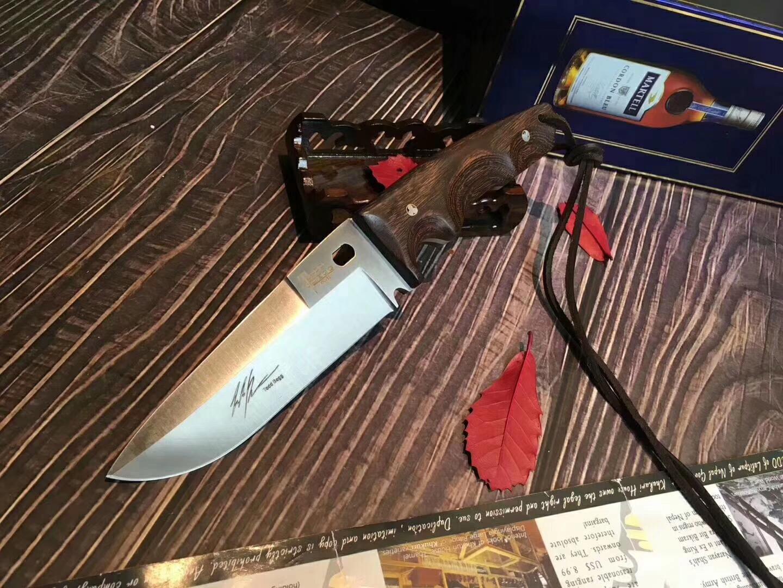 콜드 달 토드 르그 사냥 칼 고정 블레이드 7Cr15Mov 통합 핸들 로즈 우드 필드 생존 방어 훈련 고기 커터 전술 칼