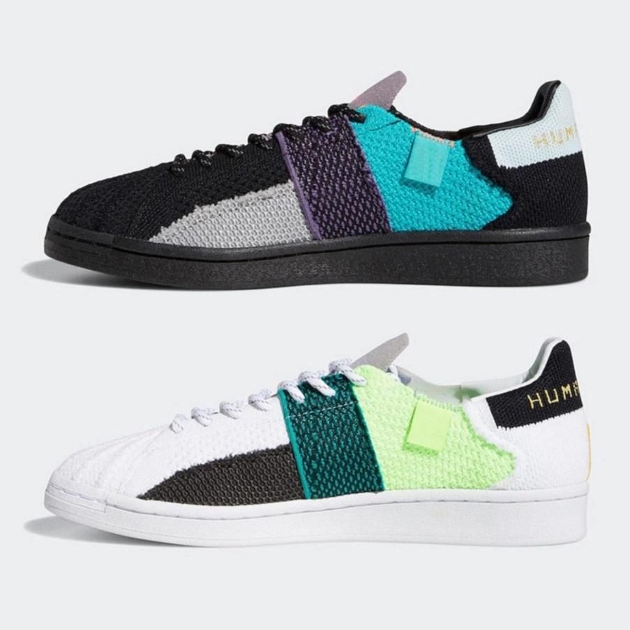 2020 Pharrell Williams x Superstar chaussures de course NMD race humaine Nuage Blanc Noyau noir des hommes formatrices de plate-forme de sport d'espadrille 36-45