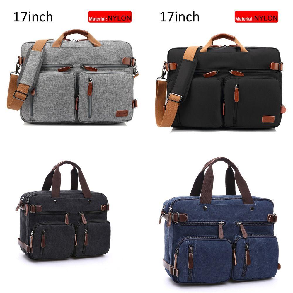 HBP Men Canvas Briefcase Travel Bags Suitcase Classic Messenger Shoulder Bag Tote Handbag Big Casual Business Laptop Pocket XA138ZC Q0112