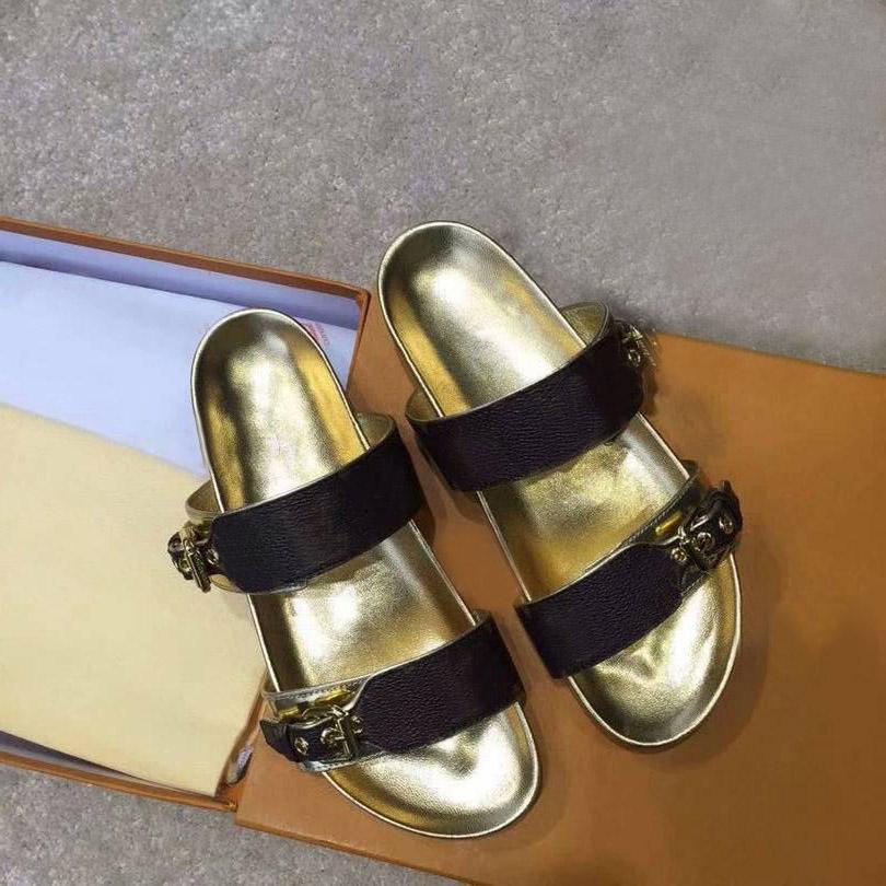 Zapatillas clásicas verano moda mujer playa dibujos animados gran cabeza zapatillas diseñador cuero plana mujer cinturón hebilla sandalias hotel baño zapatillas