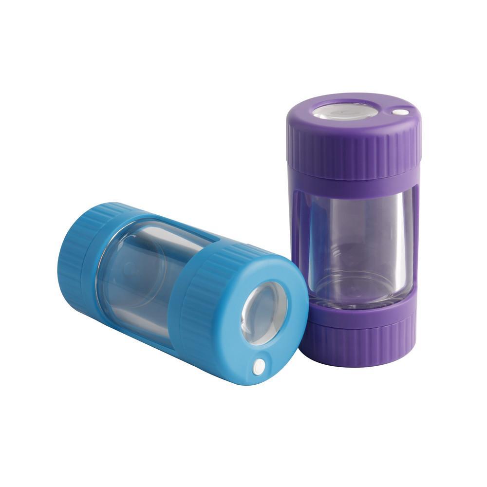 12.6x6.5 cm Boyutu LED Kavanoz Depolama Şişe Konteyner 4 Renkler Opsiyonu USB Şarj Kablosu ile Kuru Herb Kutusu Konteyner