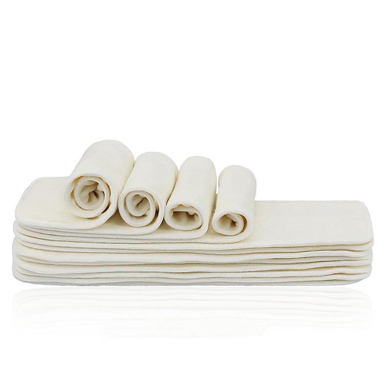 4 Schichten Bambus-Liner-Einsatz für Babytuch Windel Windel Natürliche Bambuswaschbare Kleinkind-Multilayer-Materialien