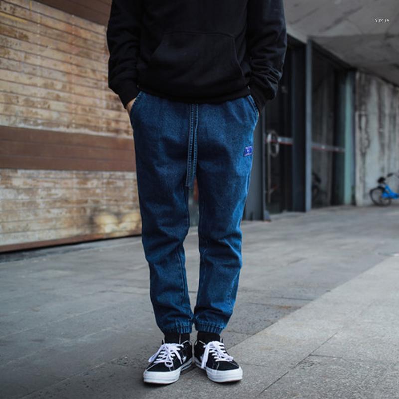 Джинсовые джинсы для мужчин Женщины Хип-хоп Гарем брюки Унисекс свободный голубой джин-стрит одежды черные джинсы1