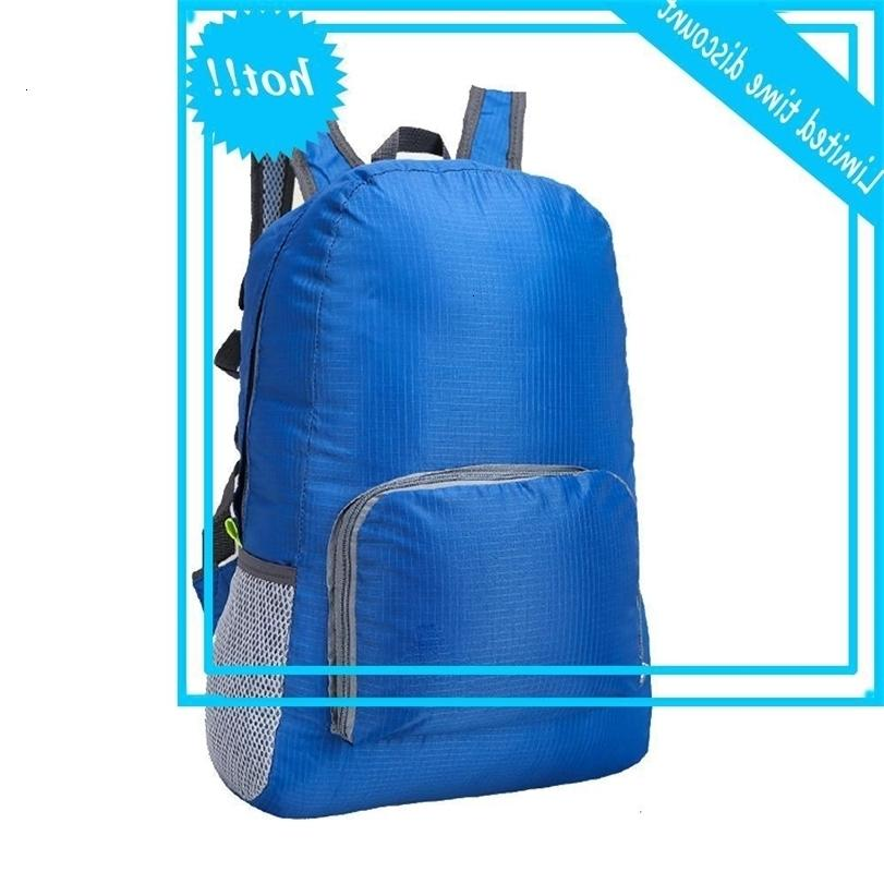 Esportes ao ar livre impermeável bolsa de passeio dobrável camping mochila