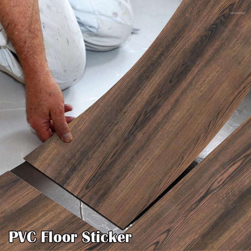 Modern Floor Stickers Wood Grain PVC Waterproof Self-adhesive Bedside Wall Decoration Wallpaper Kitchen Home Decor Wall Decor1