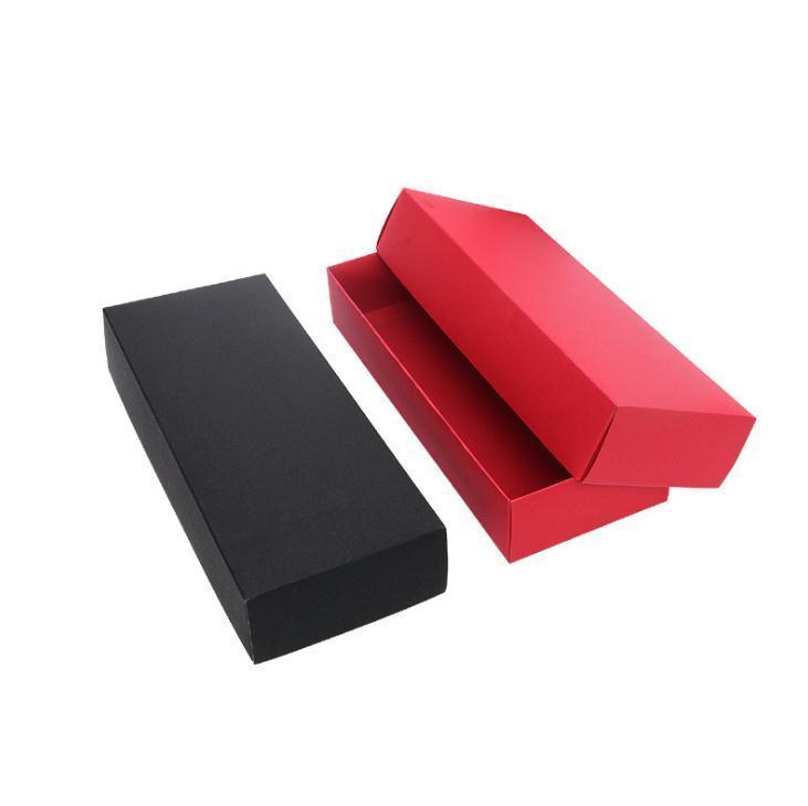 22.5x9.5 cm Carta Kraft Red Black Black Cartone per imballaggi calze Intimo Brande Bra Asciugamani Il contenitore regalo può essere personalizzato logo SN3459