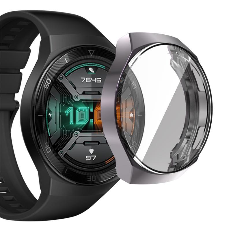 Caso relógio para relógio gt 2e protetor tpu protetora huawei full silicone huawei capa quadro para soft e gt2 gt2e vuewb