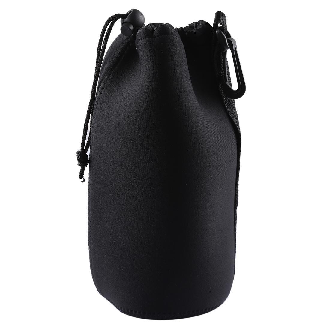 Fengling Neopren-SLR-Kamera-Objektiv Tragetasche Tasche Tasche mit Karabinergröße 10x22cm