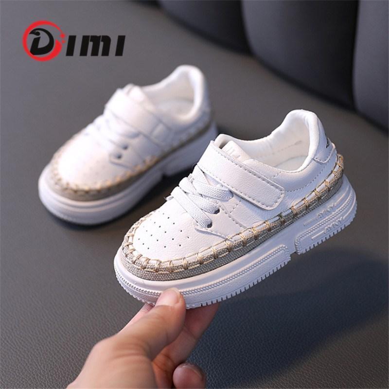 Primi Walkers Dimi autunno scarpe da bambino infantile Toddler Fanshion PU Sneakers in pelle PU Morbido confortevole antiscivolo