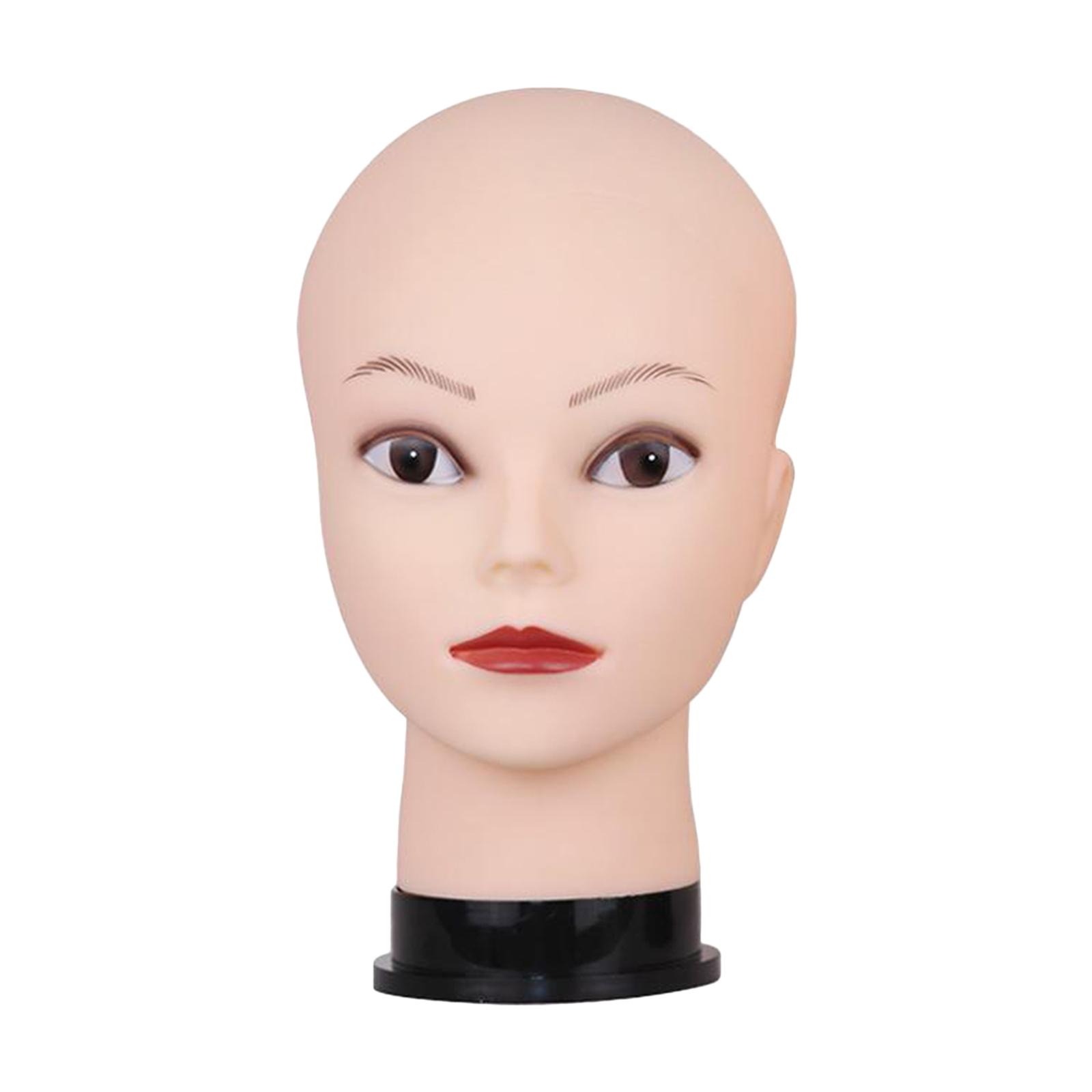 Bald Famale Mannequin Head with Eyelash Professional Cosmetology for Wig Making Display Hat Helmet Glasses or Masks Display Head Model