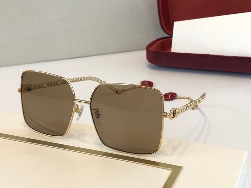 0724 Yeni Erkekler Güneş Gözlüğü Moda Kare Çerçeve Pilot Gözlük Satış Popüler Model Gözlük Basit Stil UV400 Koruma 0724S