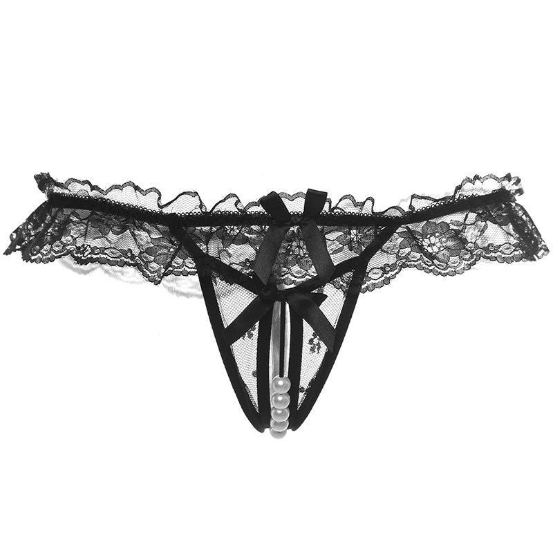 Donne apertura mutandine del cavallo da donna Lacci G Stringa Slips Perle Thongs T-Back Lingerie Sexy femminile biancheria intima