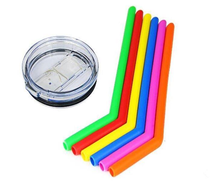 Prezzo di fabbrica per caldo! Silicone colorato del silicone del silicone 20oz 30oz della tazza della tazza di silice che beve paglia con la spazzola