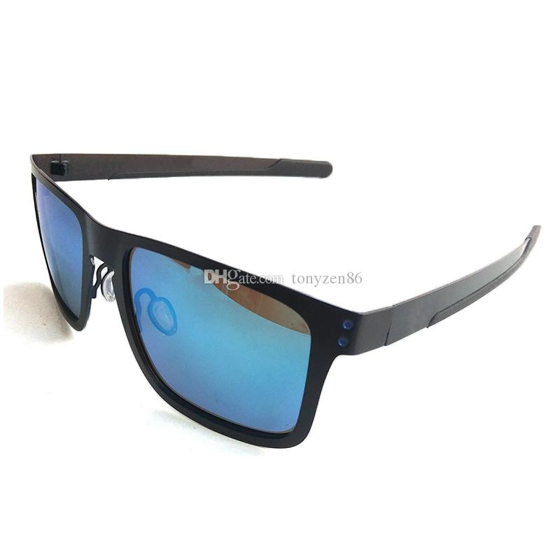 Nova polarização Polaroid Sunglasses moda homens óculos de sol esportes óculos de sol quadros 4132 ciclismo viajando óculos de óculos 11color livre navio