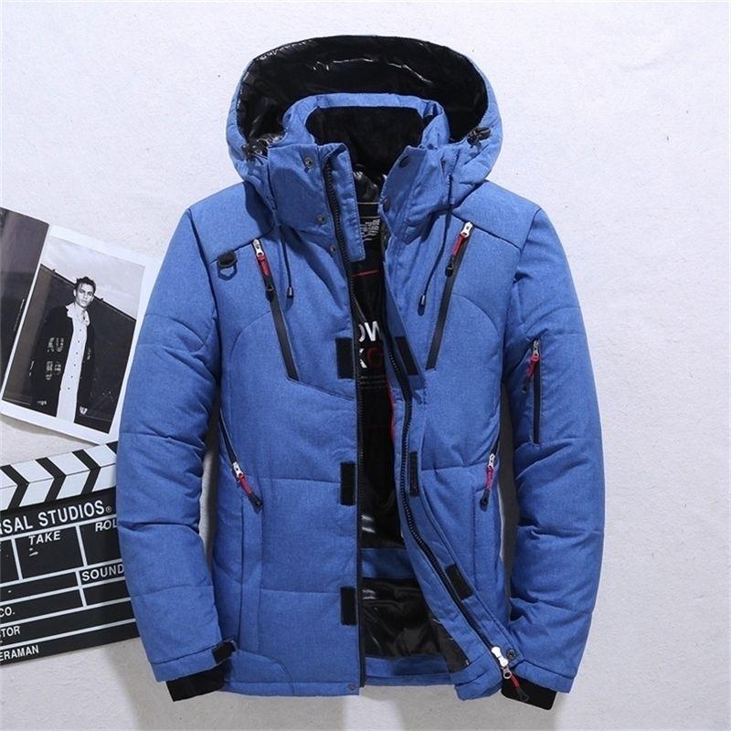 Brand Fashion Personality Zipper Pocket Taschino Inverno Giacche da uomo e cappotti Spessa Calda con cappuccio con cappuccio Allentato con cappuccio 201226