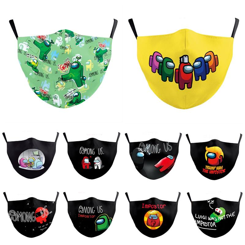 Tra gli Stati Uniti Game Anti-Haze Bocca Face Mask Adulto Riutilizzabile Protezione lavabile Unisex Cosplay Masks Maschere per feste