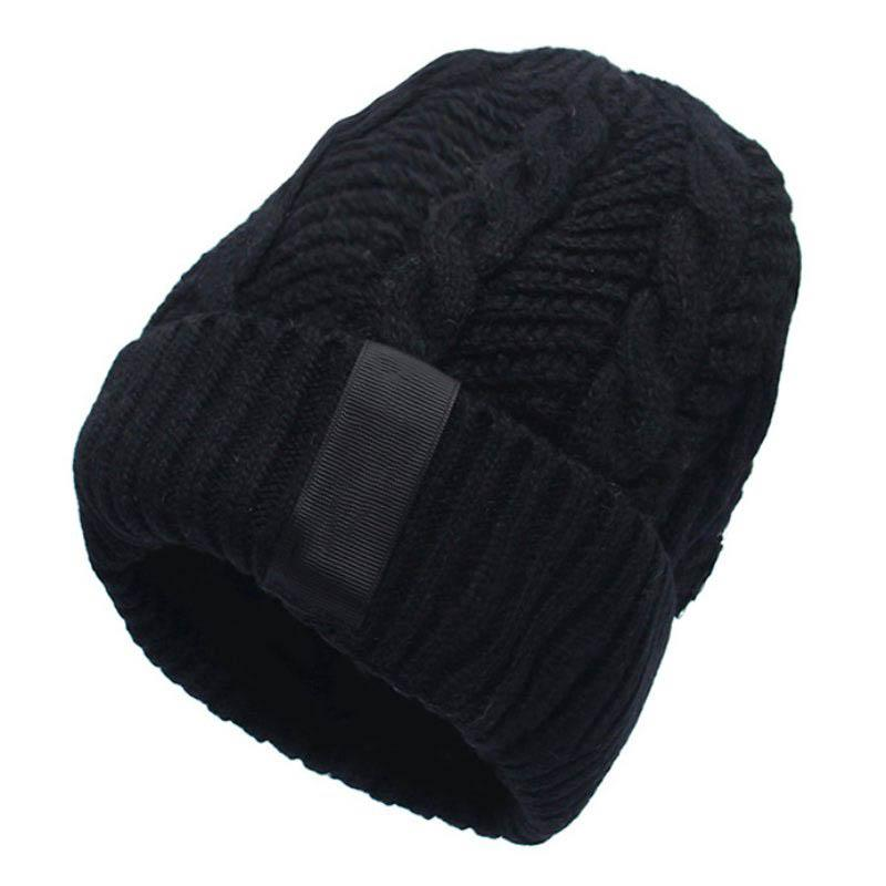 Männer Mode warme Strickmütze männlich koreanische stil kühle winter plus verdickung innerhalb hut outdoor schädelkappen
