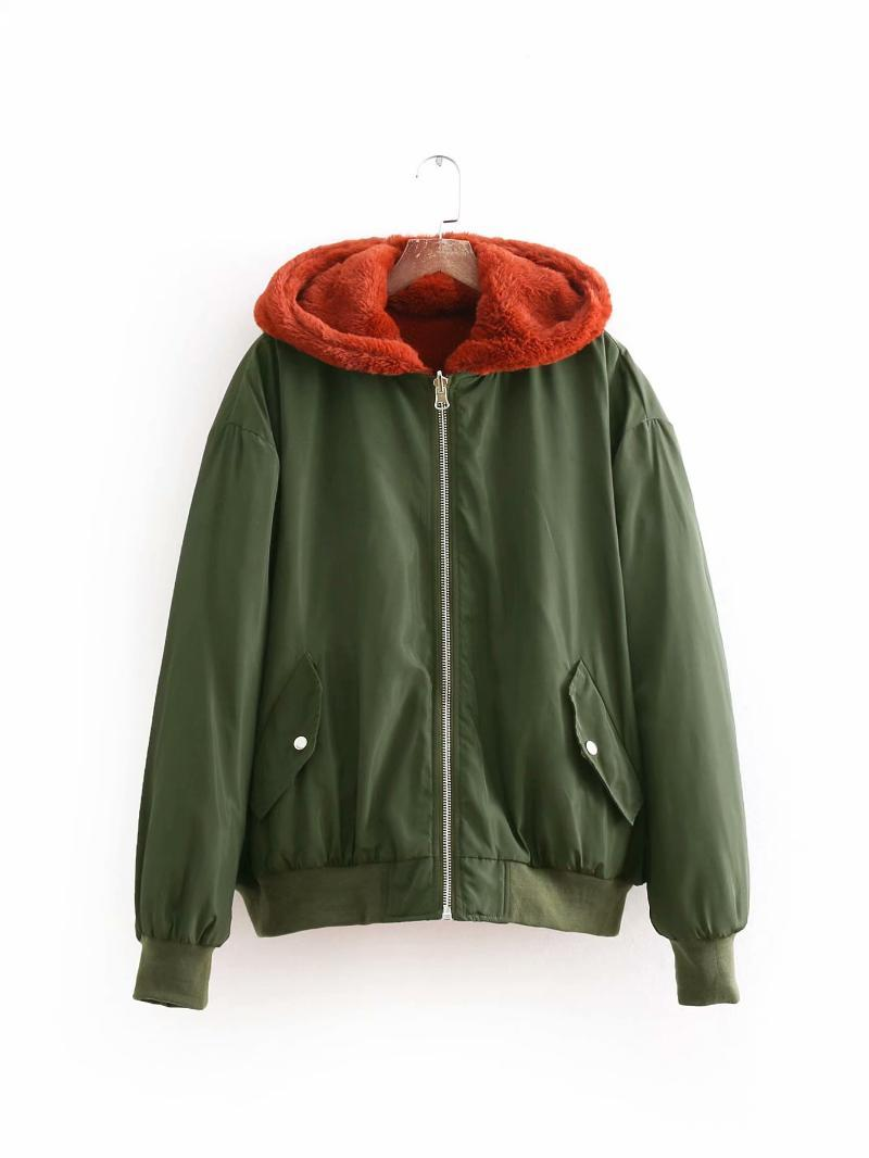 Women popular new new arrival women BB135-8444 Europe and America fashion style double faced pilot jacket