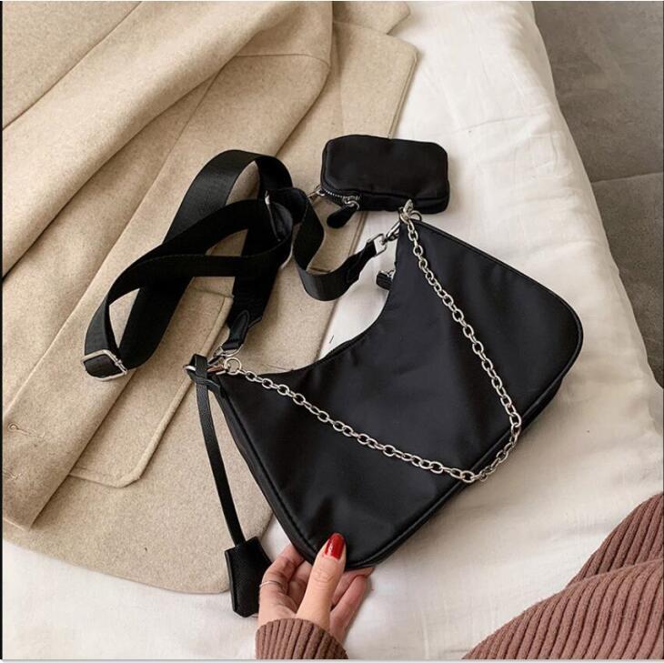 Hohe Qualität Reise Schulter Nylon Set Zweiteilige Handtasche Frauen Tasche 2020 Taschen Kreuzkörperband Mode Vintage Tasche DSKSS