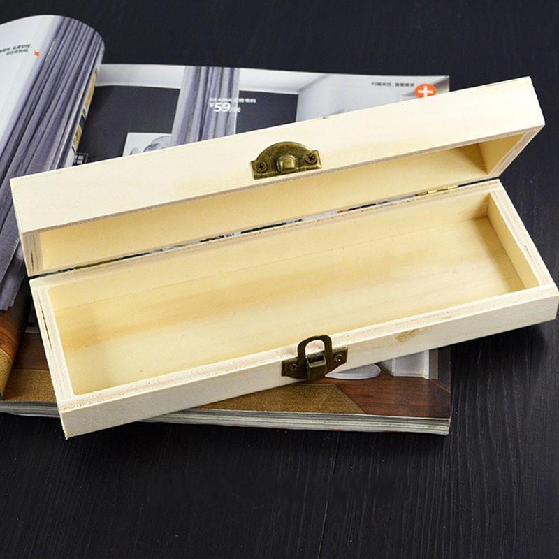 Handgemachtes Briefpapierhalter Unfertigter leerer Holzkiste für Decoupage Geschenk Geschenk 21 * 7 * 4 cm Schnell versand 271 n2