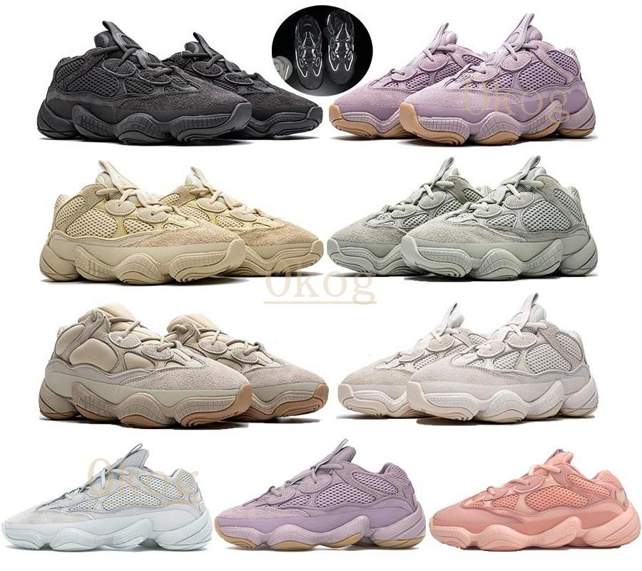 2021 adidas kanye west yeezy boost 500 yezzy yeezys shoes chaussures yecheil scarpe shoes 3m white 500s black reflective mens women stock x sneakers wave runner 500