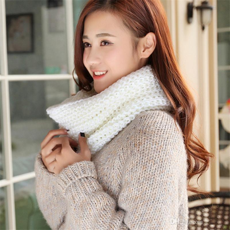 Sciarpa Infinity Donne Inverno Casual Casual Knitting Morbido Anello Sciarpe Round Neck Snood Sciarpa Scialle per Lady DDA