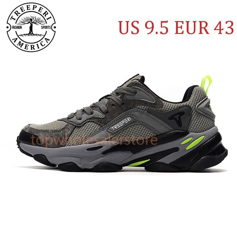أفضل Treeperi الأزياء مكتنزة 700 لينة أحذية الركض الوحيد رمادي فولت الولايات المتحدة 9.5 يورو 43 للرجال المدربين