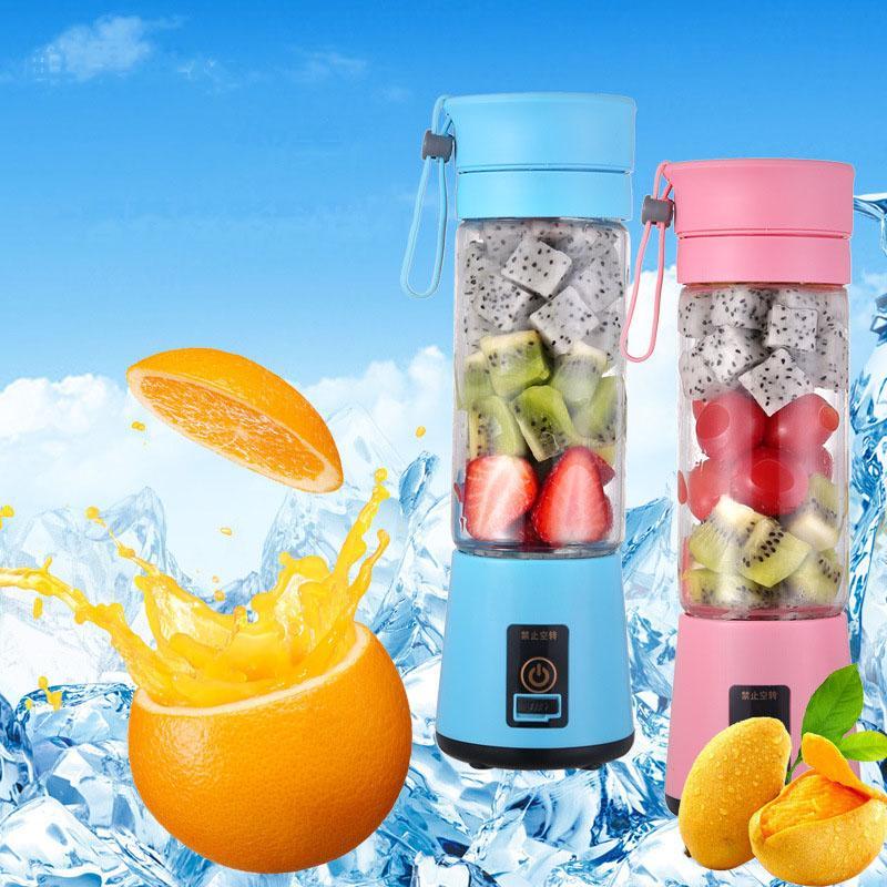 Jus de fruits électriques USB portables pour la cuisine Rechargeable Mini 380ml Juice de légumes Mélangeur Support logo personnalisé