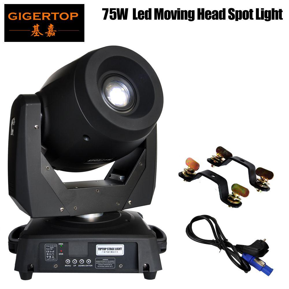 TIPTOP TP-L606B 75W llevó la luz principal móvil de la Huiliang chino de la marca llevó la lámpara nuevo diseño de pantalla LCD de pantalla grande Color / Gobo Wheel Rotattion