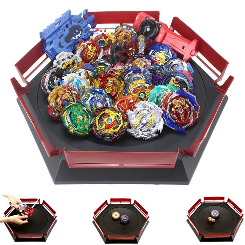 Takara tomy combinação beyblade estourando brinquedos beyblades arena bayblade fusão de metal com lançador girando top toys 201216