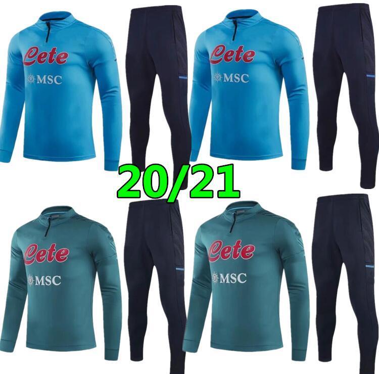 2020 Napoli Surversement Jacket Training Suit Soccer Tracksuits 2021 Napoli Tracksuit Jacket Giacca da calcio Set