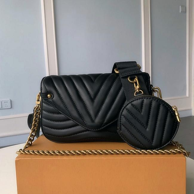 Кожаный набор наплеч Натуральная волна Новый кожаный крест Code Mini Twin для Satchle Bag Pochette Men Presbyopic Multi Package сумка La Ogri
