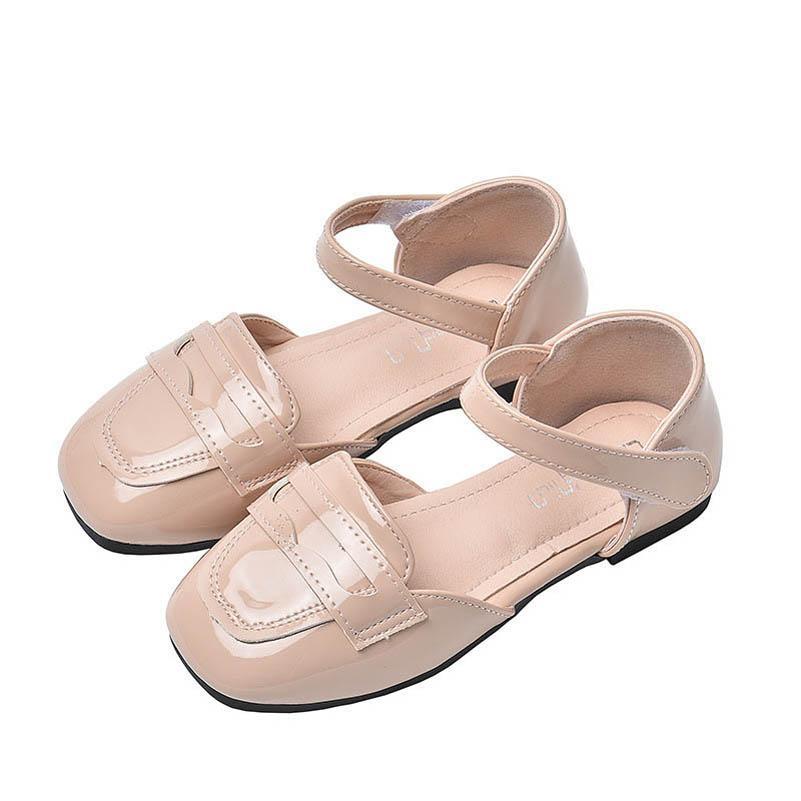 2021 Весна Летние Девушки Обувь Детские Сандалии Мода Мода Принцесса ПУ Кожаные Детская Обувь Студенческая Обувь B3803
